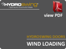 Hydroswing Doors Wind Loading